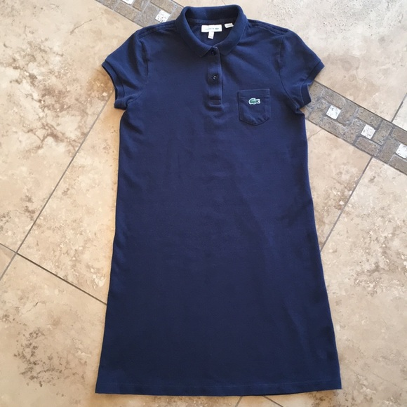 298eabdaf Lacoste Other - Lacoste kids navy pique polo dress girls size 12